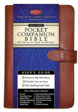 Holy Bible Pocket Companion: with Slip-Tab Closure Tan