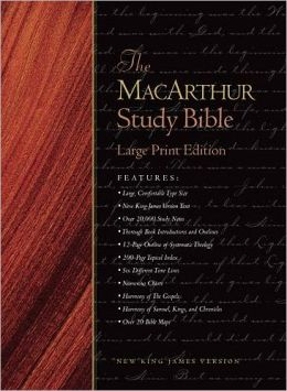 The MacArthur Study Bible, Large Print Edition: New King James Version (NKJV)