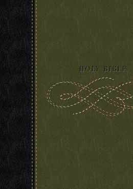 KJV Personal Size Giant Print Reference Bible (Black/Khaki Green)