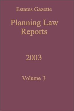 Planning Law Reports 2003 V3