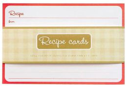Recipe Journal Card Inserts