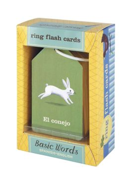 Basic Words - Spanish-English Ring Flash Cards