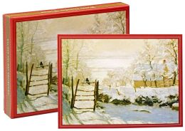 Monet Magpie Christmas Boxed Cards