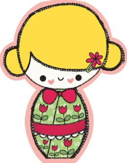 Japanese Dolls Shaped Note Cards Set of 10
