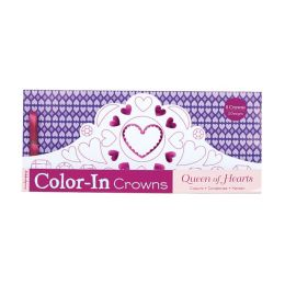 Queen of Hearts Color-in Crowns