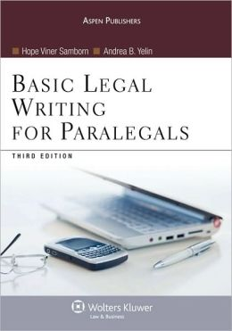 Basic Legal Writing For Paralegals, Third Edition
