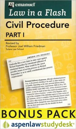 Law in a Flash Cards: Civil Procedure, Part I (Print + eBook Bonus Pack)