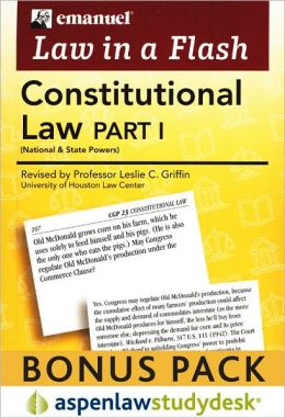 Law in a Flash Cards: Constitutional Law, Part 1 (Print + eBook Bonus Pack)