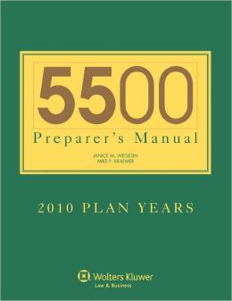5500 Preparers Manual For 2010 Plan Years
