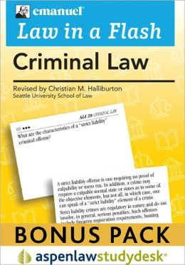 Liaf: Criminal Law 2010 Studydesk Bonus Pack