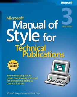 Microsoft Manual of Style for Technical Publications