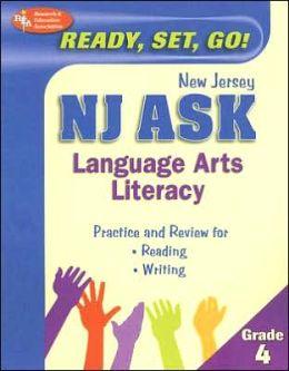 NJ ASK Language Arts Literacy Grade 4 (REA) - Ready, Set, Go! New Jersey ASK, Grade 4 English Lang
