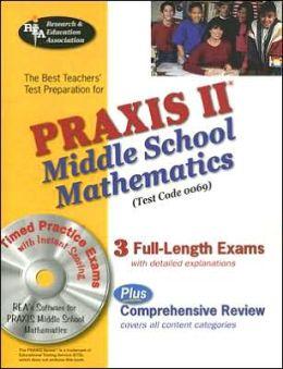 PRAXIS Middle School Math W/CD