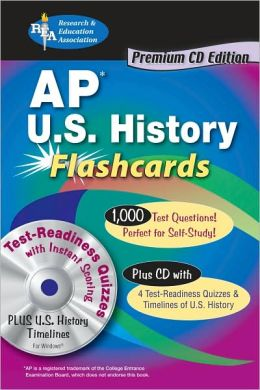 AP US History Premium Edition Flashcard book w/CD