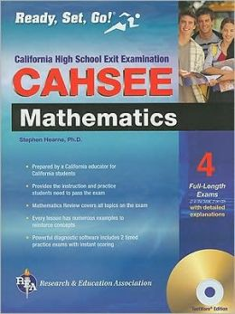 CAHSEE Mathematics W/CD: California High School Exit Exam