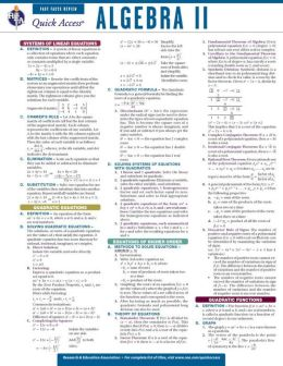 Quick Access: Algebra 2