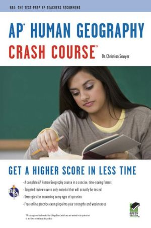 AP Human Geography Crash Course Book + Online