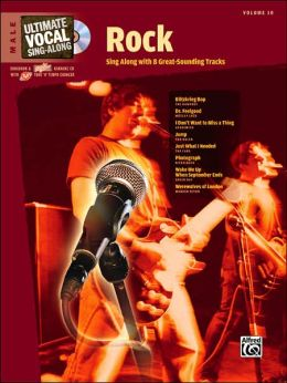 Ultimate Vocal Sing-Along Rock: Male Voice, Book & Enhanced CD