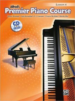 Premier Piano Course Lesson Book, Bk 4: Book & CD
