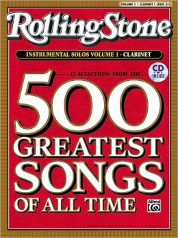 Selections from Rolling Stone Magazine's 500 Greatest Songs of All Time (Instrumental Solos), Vol 1: Clarinet, Book & CD