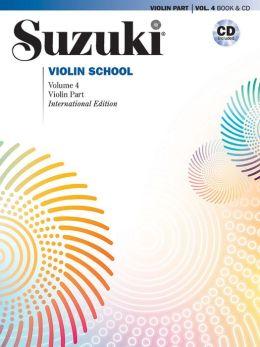 Suzuki Violin School, Vol 4: Violin Part, Book & CD