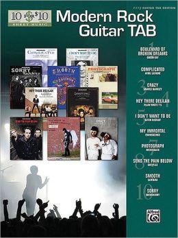 10 for 10 Modern Rock Guitar Tab: Easy Guitar TAB