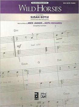 Wild Horses: Big Note Piano, Sheet