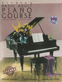 Alfred's Basic Adult Piano Course Lesson Book, Bk 1: Book & DVD