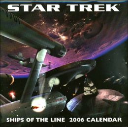 2006 Star Trek Ships Wall Calendar