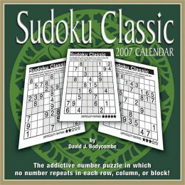 2007 Sudoku Box Calendar