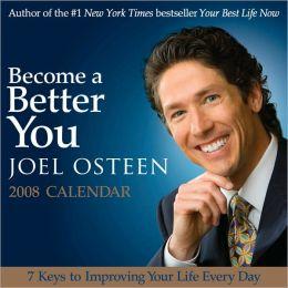 2008 Joel Osteen Become a Better You Box Calendar
