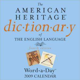 2009 American Heritage Dictionary Box Calendar