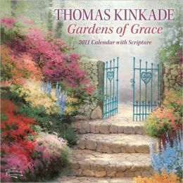 2011 Thomas Kinkade Gardens of Grace with Scripture Wall Calendar