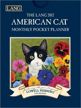 2012 American Cat Monthly Pocket Planner Calendar