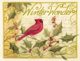 HOLLY & CARDINAL CHRISTMAS BOXED CARD