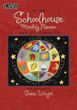 2014 Schoolhouse Monthly Red Planner