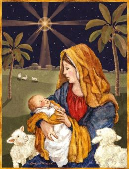 Mother And Child Christmas Boxed Card