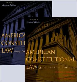American Constitutional Law: Liberty, Community, and the Bill of Rights