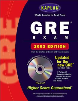 Kaplan GRE 2003 with CD-ROM--Windows only