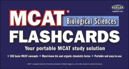 MCAT Biological Sciences Flashcards