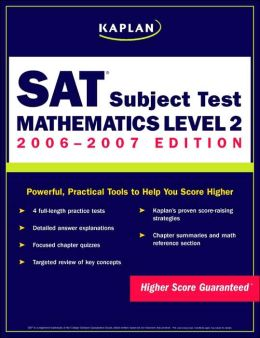 Kaplan SAT: Mathematics Level 2