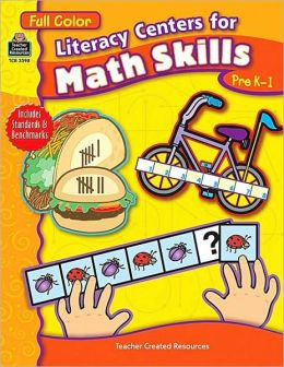 Full Color Literacy Centers for Math Skills: Pre K-1