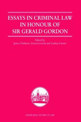 Essays in Criminal Law in Honour of Sir Gerald Gordon