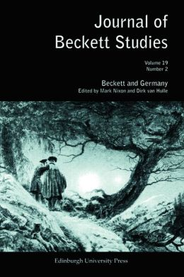 Beckett and Germany: Journal of Beckett Studies Volume 19, Number 2