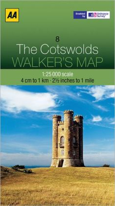 Walker's Map the Cotswolds