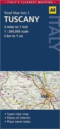Road Map Tuscany