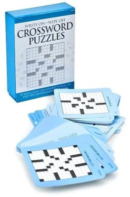 Write On - Wipe Off Crossword Puzzles