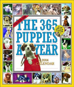 2004 365 Puppies Deluxe Wall Calendar