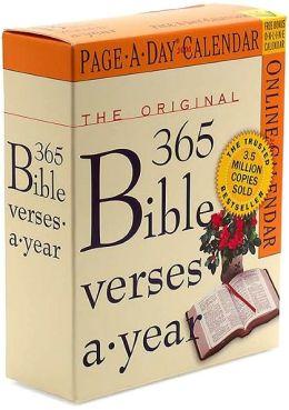 2006 Original 365 Bible Verses Page-A-Day Calendar