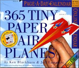 2007 365 Tiny Paper Airplanes Page-A-Day Box Calendar